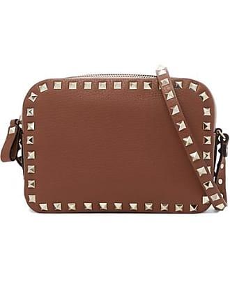 a7b1c0b95246 Valentino Valentino Garavani The Rockstud Textured-leather Shoulder Bag -  Tan