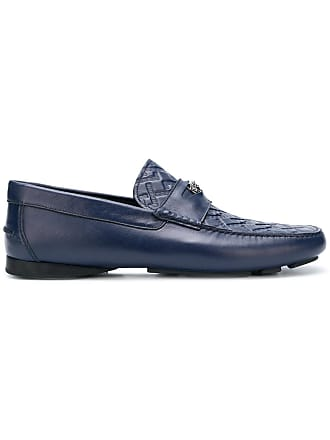 Versace Grecca embossed loafers - Blue