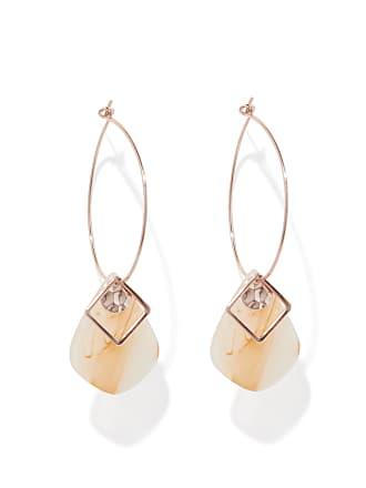 Forever New Scarlett Resin Charm Hoop Earrings - Neutral - 00