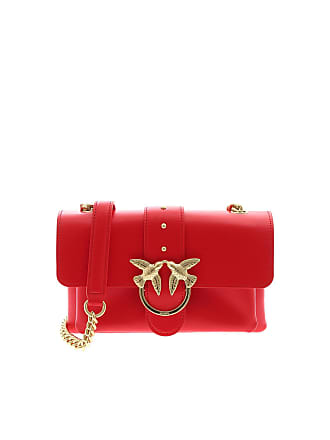 Pinko Mini Love Soft crossbody bag in red