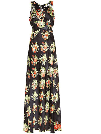 Paco Rabanne Floral satin maxi dress