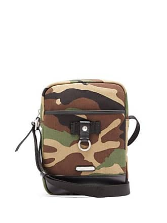 f3564b8e155 Saint Laurent Camouflage Print Canvas And Leather Cross Body Bag - Mens -  Camouflage