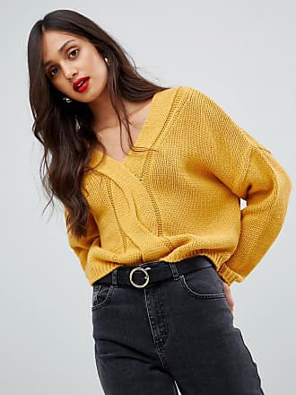 AX PARIS cable knit sweater - Yellow