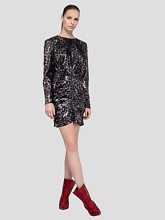 Msgm sequin long sleeve dress