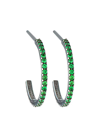 Lana Jewelry 14k Electric Mini Hoop Earrings, Tsavorite