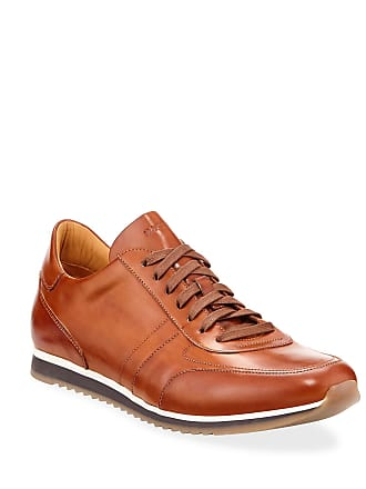 Magnanni Mens Buterlight Leather Sneakers, Cognac