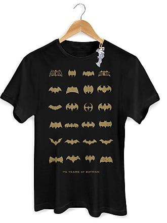 DC Comics Camiseta Masculina Batman 75 Anos Logo