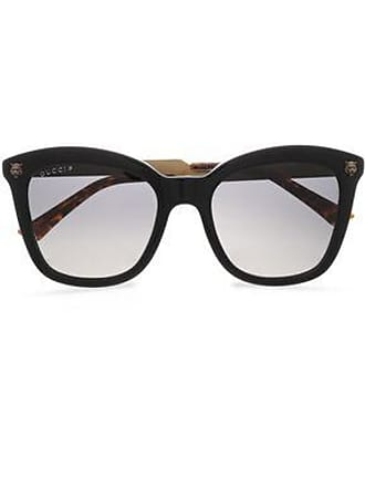 c30d6d2d5cd Gucci Gucci Woman D-frame Acetate And Burnished Gold-tone Sunglasses Black  Size