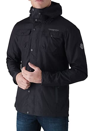 635de3a6ed95 Crosshatch 2k18Sep New Mens Hooded Jacket Waterproof Resistant Lined Zipped  Coat Black
