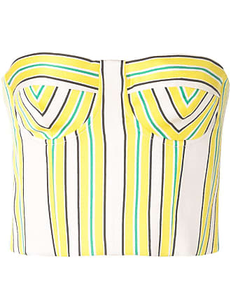 Alexis Summer striped bustier top - Yellow