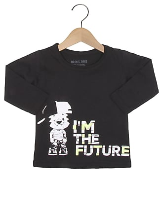 Tigor T. Tigre Camiseta Tigor T. Tigre Manga Longa Menino Preto
