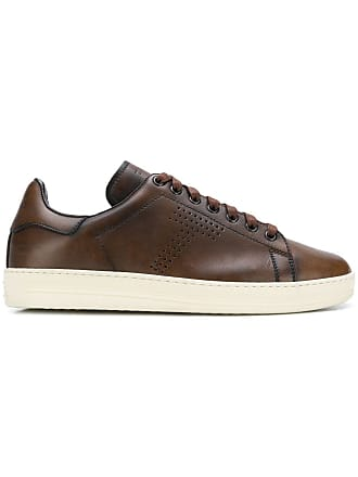 Tom Ford perforated T sneakers - Brown