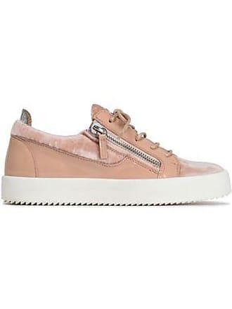 4fd8b330b47 Giuseppe Zanotti Giuseppe Zanotti Woman Patent-leather And Velvet Ankle  Boots Blush Size 35