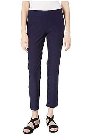 Eileen Fisher Slim Ankle Pants in Washable Stretch Crepe (Midnight) Womens Casual Pants