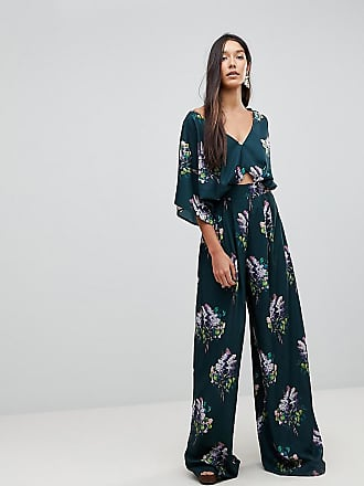 2e403584e56e Asos Tall Jumpsuit with Kimono Sleeve and Wide Leg in Print