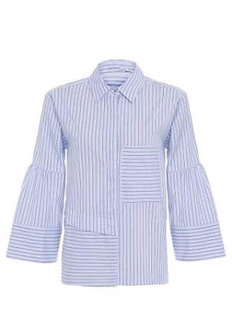 Isabella Fiorentino x OQvestir Maxi Camisa Listras Isabella Fiorentino para Oqvestir - Azul