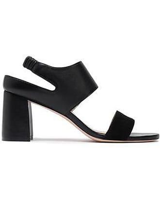 1dab147afb1ee Stuart Weitzman Stuart Weitzman Woman Leather And Suede Slingback Sandals  Black Size 38.5