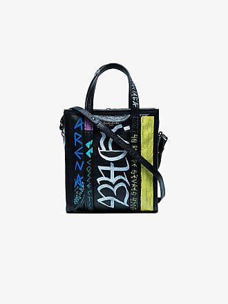 1a8b91a633b Balenciaga black Graffiti Bazar Shopper Mini Tote Bag
