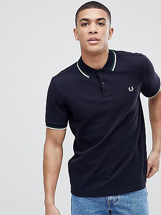 35566da38 Fred Perry twin tipped logo polo shirt in navy Exclusive at ASOS