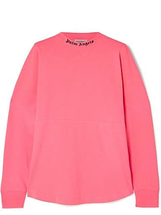 Palm Angels Printed Cotton-jersey Top - Pink
