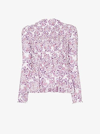 See By Chloé ruffle neck paisley print top