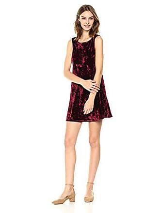 BB Dakota Womens Meyer Crushed Velvet Shift Dress, Bordeaux, X-Small