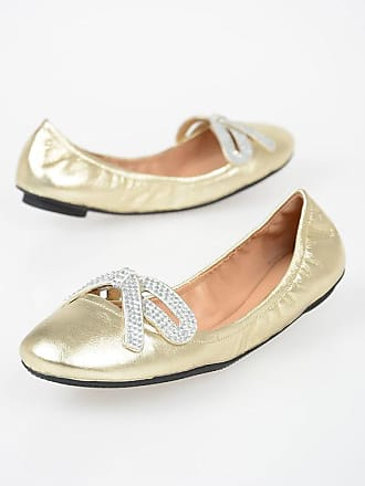 55c3648ad9b3e Marc Jacobs Leather Ballet Flats with Applications size 36