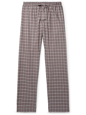 Zimmerli Checked Cotton And Wool-blend Flannel Pyjama Trousers - Burgundy