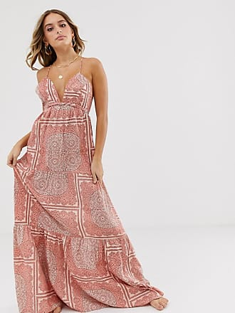 85f34c94bf Asos twist back beach maxi dress in washed paisley print - Multi