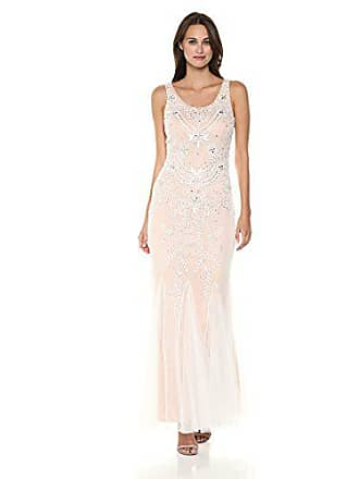 1544d22887a Betsy   Adam Womens Long Beaded mesh Dress with Godets