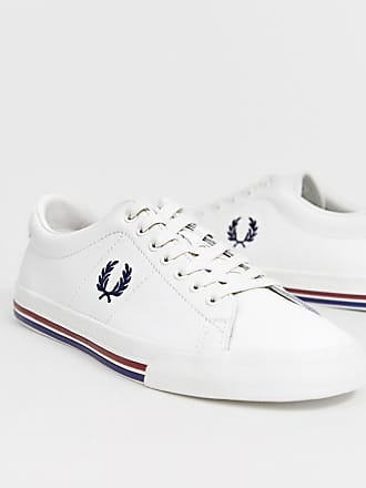 de714f2905 Fred Perry Underpsin leather sneakers in off white - White