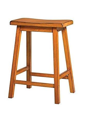 ACME Acme Furniture Gaucho Counter Height Stool (Set of 2), Antique Oak