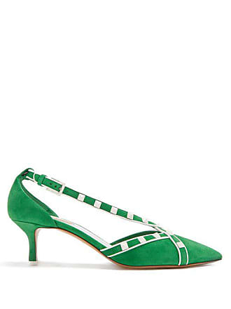 304af6ad4f Valentino Free Rockstud Suede Pumps - Womens - Green White