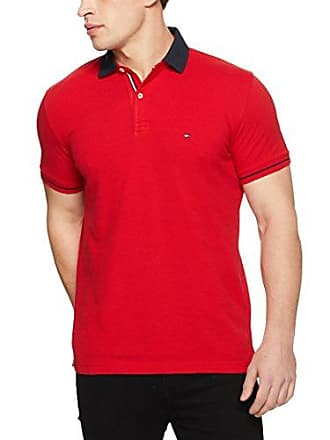 e5808f92 Tommy Hilfiger Mens 1985 Polo T-Shirt with Sleeve Tipping and Navy Collar,  Haute
