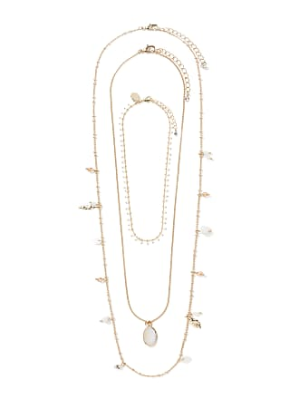 Forever New Venice Three-Pack Shell Layered Necklaces - Ivory - 00