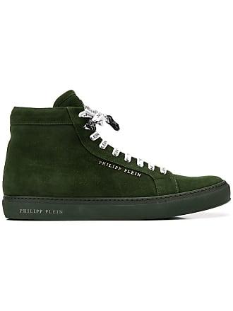 Philipp Plein logo hi-top sneakers - Green
