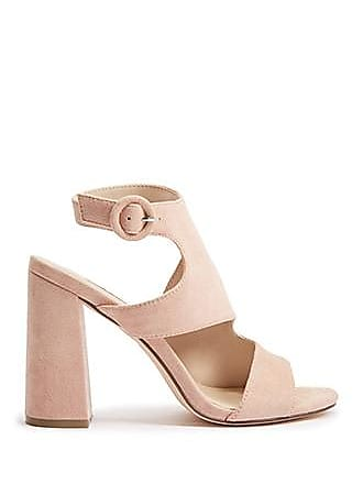 Forever 21 Forever 21 Faux Suede Cutout High Heels Blush