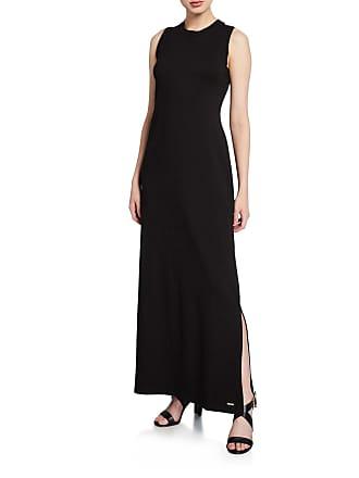 Iconic American Designer Sleeveless High-Slit Maxi Dress