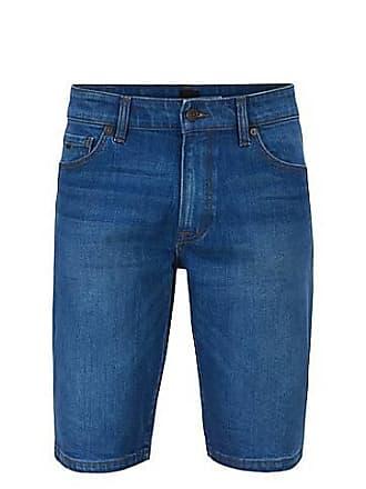 bab045bb BOSS Regular-fit shorts in ocean-blue comfort-stretch denim