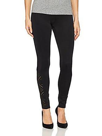 Hue Womens Laser Cut Ponte Leggings, Black, Extra Large