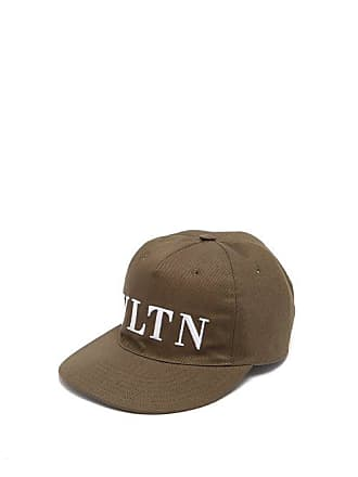eb8ffa332d9 Valentino Vltn Logo Embroidered Cotton Cap - Mens - Khaki