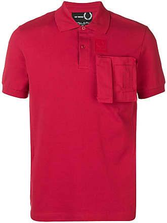 Fred Perry Camisa polo com bolso - Vermelho