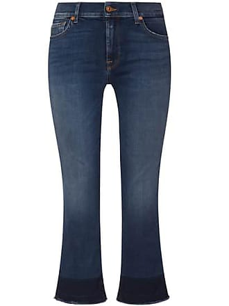 bbf6a34525ff 7 For All Mankind The Cropped Boot Unrolled 7 8 Jeans Mid Rise (Blau