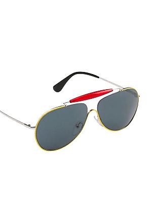 ca9695bccb Lunettes de soleil aviateur en métal. Livraison: gratuite. Prada SPR56S  Jaune