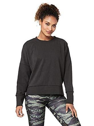 b0d6ed28 Reebok Womens Crossfit Terry Crew Sweatshirt, Black Melange, XS