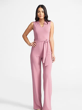 Alloy Apparel Tall Crepe Jumpsuit Rose Size XXL/37