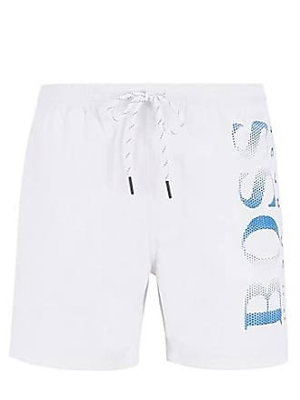 d8c7d619bd BOSS Logo-print swim shorts in technical fabric