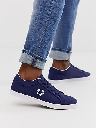 Fred Perry Baseline canvas sneakers in navy - Navy