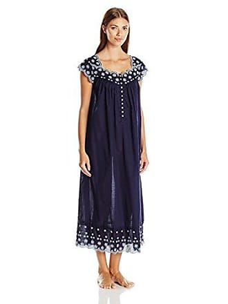 Eileen West Womens Floral Embroidered Cotton Ballet Nightgown 16e0868e4