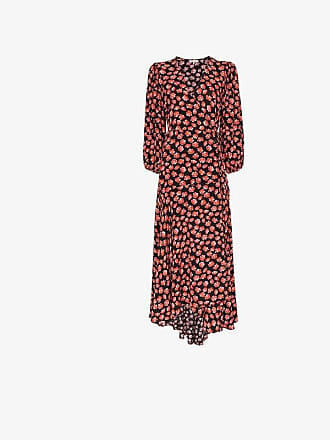 Ganni Lindale floral print wrap dress